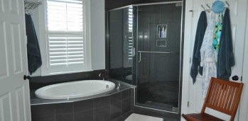 New Home Master Bathroom - SF Ballou Construction Company