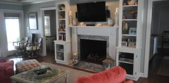 Brassfield Fireplace - SF Ballou Construction Company