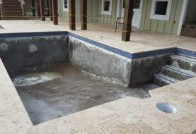 Outdoor Pool Under Construction